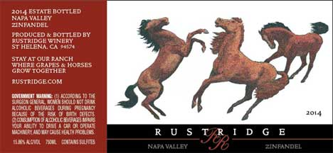 2014 Zinfandel Label