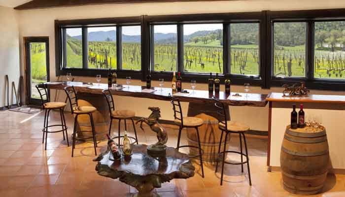 A view inside the tasting room
