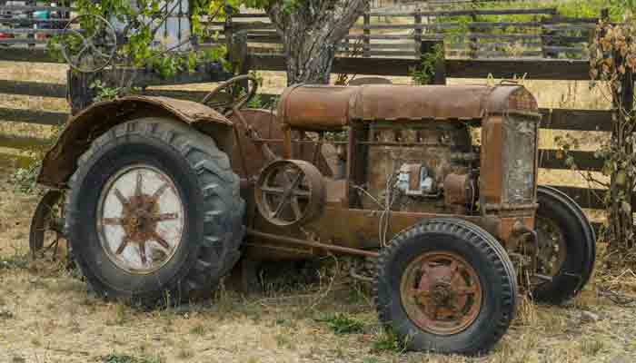 An old tractor on the ranch
